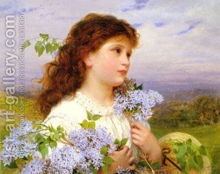 The Time of the Lilacs by Sophie Gengembre Anderson - Reproduction Oil Painting