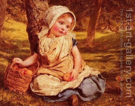 Windfalls by Sophie Gengembre Anderson - Reproduction Oil Painting