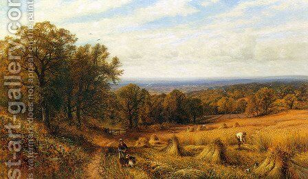 Harvest Time by Alfred Glendening - Reproduction Oil Painting