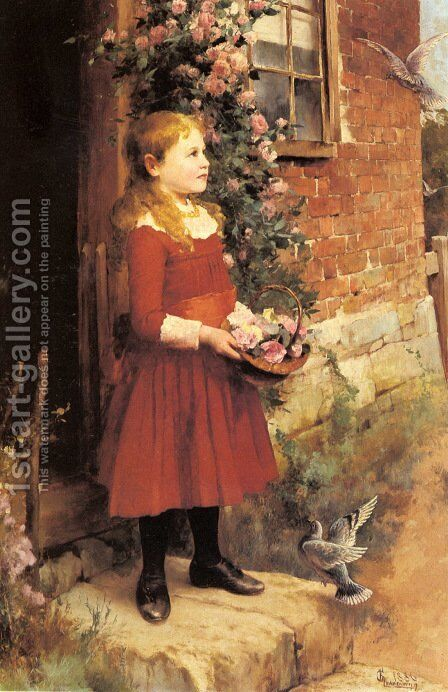 The Youngest Daughter of J.S. Gabriel by Alfred Glendening - Reproduction Oil Painting