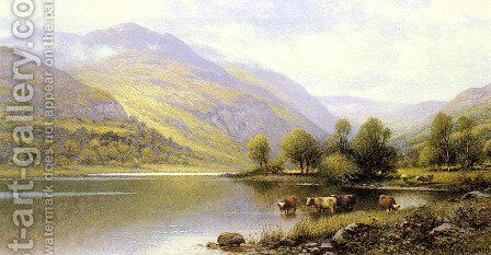 Near Capel Curig, North Wales by Alfred Glendening - Reproduction Oil Painting