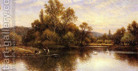 The Ferry by Alfred Glendening - Reproduction Oil Painting