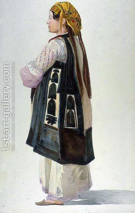 Albanian Peasant, Athens by Charles-Gabriel Gleyre - Reproduction Oil Painting