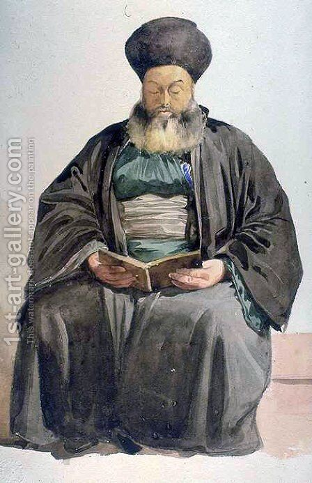 Armenian Priest, Smyrna by Charles-Gabriel Gleyre - Reproduction Oil Painting