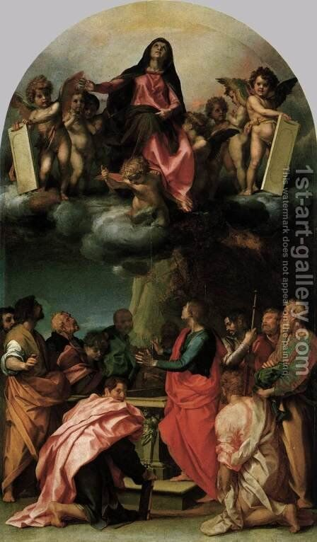 Assumption of the Virgin by Andrea Del Sarto - Reproduction Oil Painting