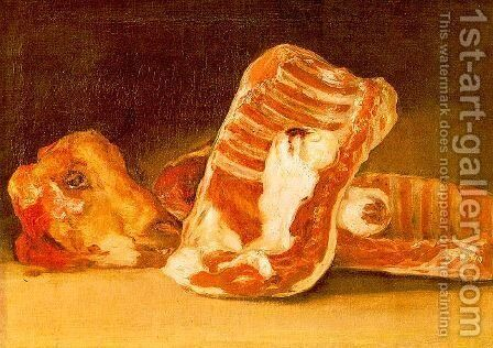 Still life with sheep's head by Goya - Reproduction Oil Painting