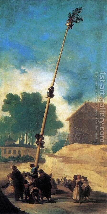 The Greasy Pole (La Cucana) by Goya - Reproduction Oil Painting