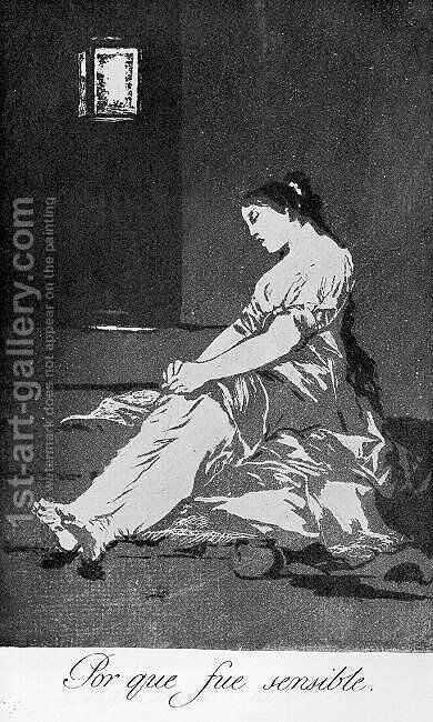 Caprichos - Plate 32: Because she was Susceptible by Goya - Reproduction Oil Painting