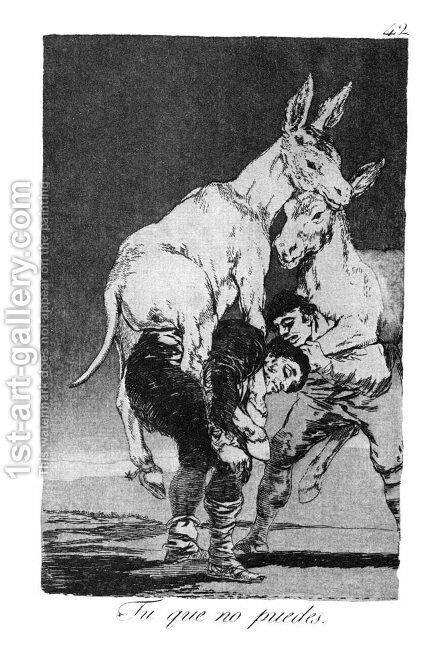 Caprichos - Plate 42: They who Cannot by Goya - Reproduction Oil Painting