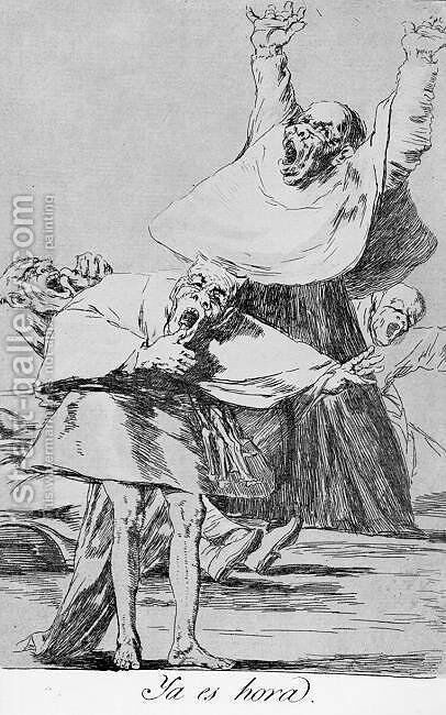 Caprichos - Plate 80: It is Time by Goya - Reproduction Oil Painting