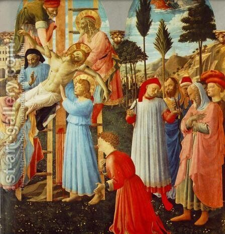 Deposition (Pala di Santa Trinita, detail) by Angelico Fra - Reproduction Oil Painting