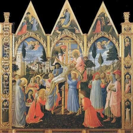 Deposition (Pala di Santa Trinita) by Angelico Fra - Reproduction Oil Painting