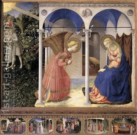 The Annunciation by Angelico Fra - Reproduction Oil Painting