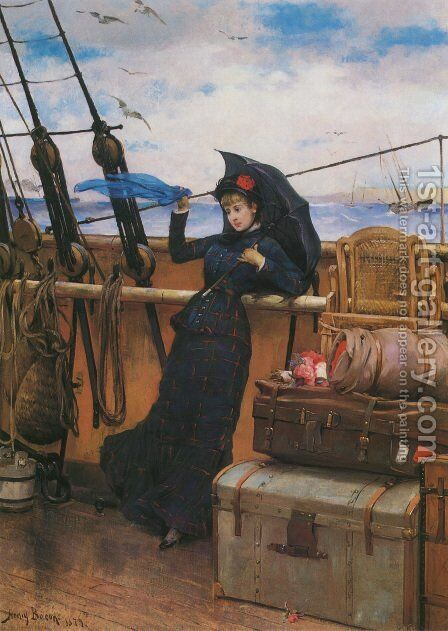 The Departure by Henry Bacon - Reproduction Oil Painting