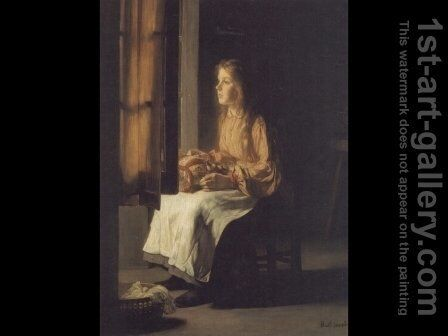 La Denteliere (The Lacemaker) by Claude Joseph Bail - Reproduction Oil Painting