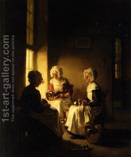 Polishing the Copper by Claude Joseph Bail - Reproduction Oil Painting