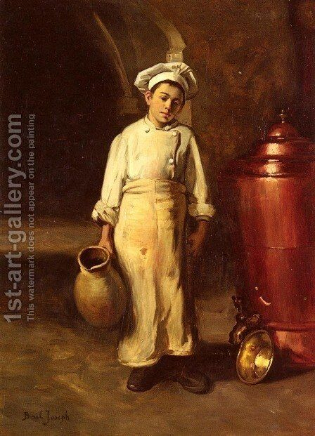 The Cook's Helper by Claude Joseph Bail - Reproduction Oil Painting