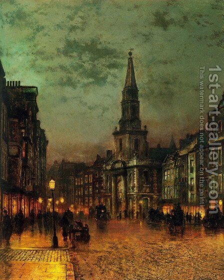Blackman Street, London by John Atkinson Grimshaw - Reproduction Oil Painting