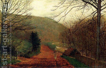 Forge Valley, Scarborough by John Atkinson Grimshaw - Reproduction Oil Painting