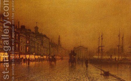 Greenock Dock by John Atkinson Grimshaw - Reproduction Oil Painting