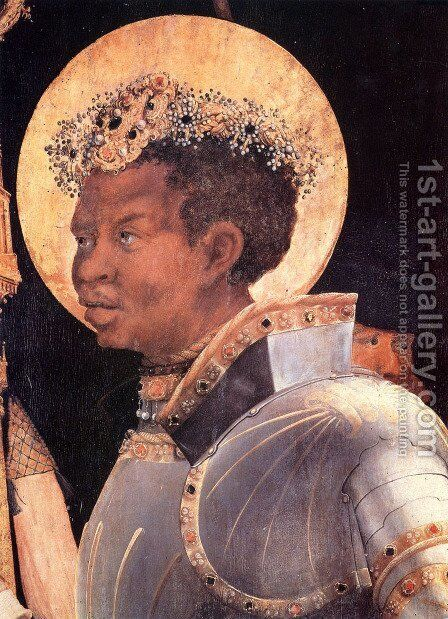 St. Maurice (Detail From Meeting Of Saints Eramus & Maurice) by Matthias Grunewald (Mathis Gothardt) - Reproduction Oil Painting