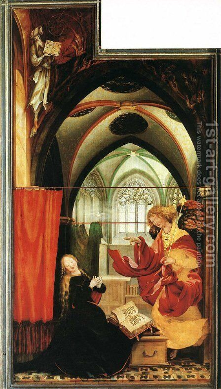 The Annunciation by Matthias Grunewald (Mathis Gothardt) - Reproduction Oil Painting