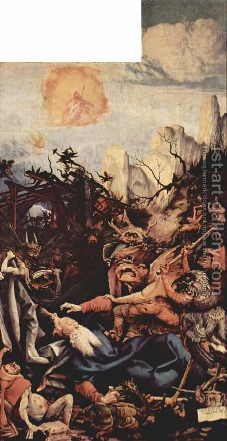 The Temptation of St Anthony by Matthias Grunewald (Mathis Gothardt) - Reproduction Oil Painting