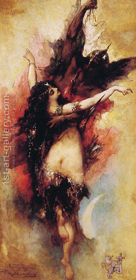 Allegory by Anatole Henri de Beaulieu - Reproduction Oil Painting