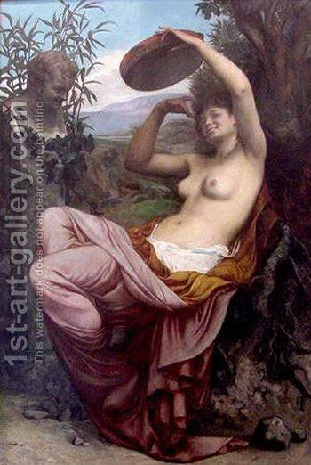 Bacchante by Camille Felix Bellanger - Reproduction Oil Painting