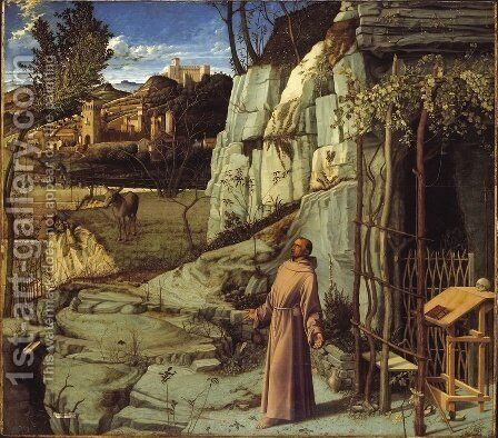 St. Francis in Ecstasy by Giovanni Bellini - Reproduction Oil Painting