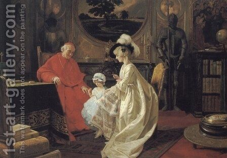 Baby's Birthday by Giuseppe Guidi - Reproduction Oil Painting