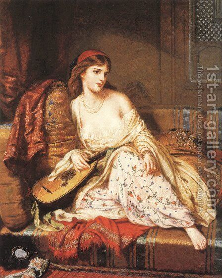 The Light of the Harem by Charles Wynee Nicholls - Reproduction Oil Painting