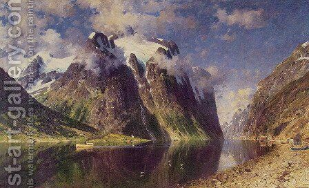 The Fjord by Adelsteen Normann - Reproduction Oil Painting
