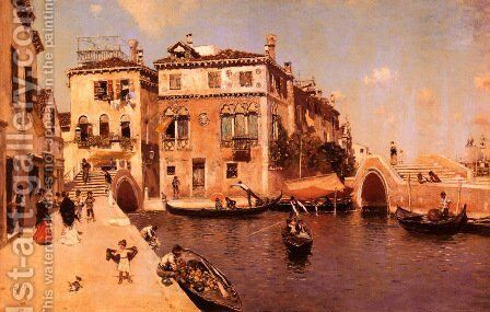 A Venetian Afternoon by Martin Rico y Ortega - Reproduction Oil Painting