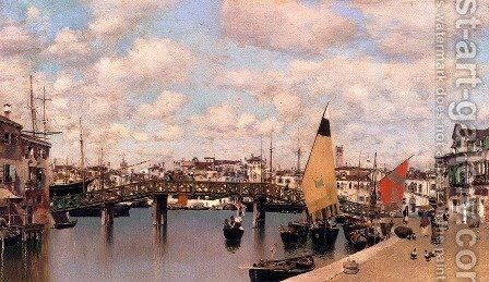 Le Pont Vert by Martin Rico y Ortega - Reproduction Oil Painting