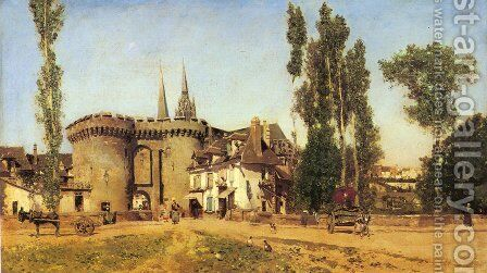 The Village of Chartres by Martin Rico y Ortega - Reproduction Oil Painting