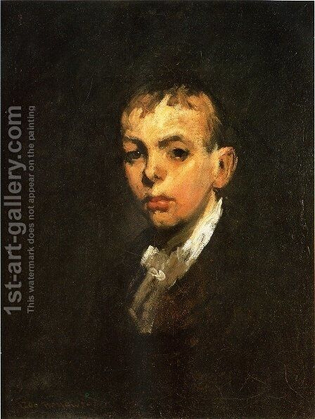 Head of a Boy (or Gray Boy) by George Wesley Bellows - Reproduction Oil Painting