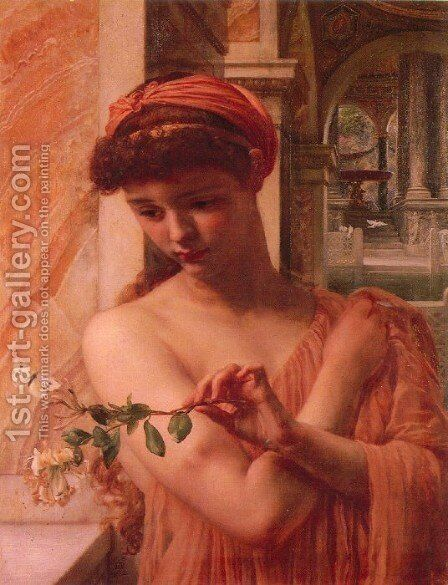 Psyche in the temple of love by Sir Edward John Poynter - Reproduction Oil Painting
