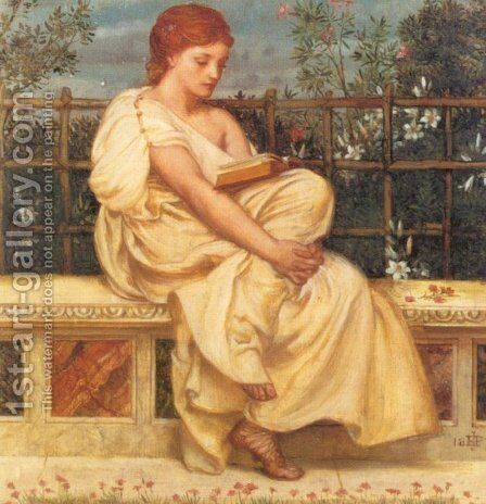 Reading by Sir Edward John Poynter - Reproduction Oil Painting