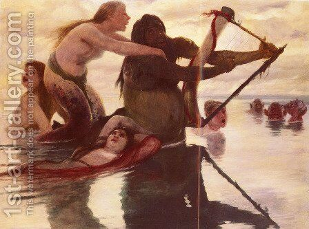 Im Meere (In the Sea) by Arnold Böcklin - Reproduction Oil Painting