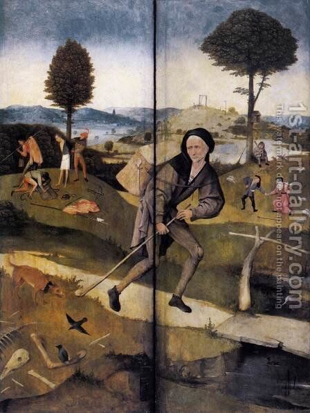 The Path of Life, outer wings of a triptych by Hieronymous Bosch - Reproduction Oil Painting