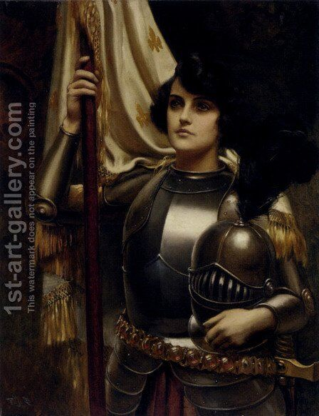Joan of Arc by Harold Piffard - Reproduction Oil Painting