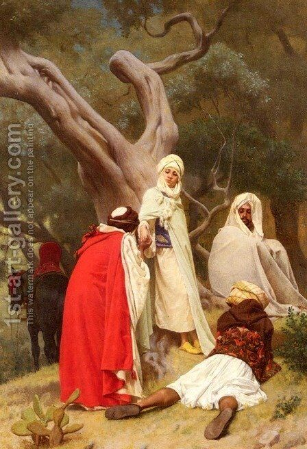 Reception Of An Emir by Gustave Clarence Rodolphe Boulanger - Reproduction Oil Painting