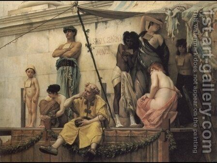 The Slave Market by Gustave Clarence Rodolphe Boulanger - Reproduction Oil Painting