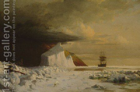 An Arctic Summer: Boring Through the Pack in Melville Bay by William Bradford - Reproduction Oil Painting