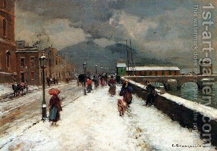 A Blustery Winter Day by Carlo Brancaccio - Reproduction Oil Painting