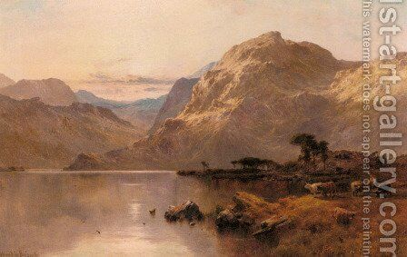 Crafnat, North Wales by Alfred de Breanski - Reproduction Oil Painting
