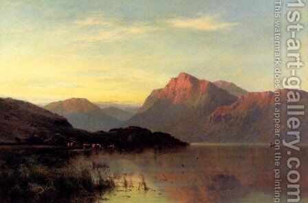The Conway At Bettws-Y-Coed by Alfred de Breanski - Reproduction Oil Painting