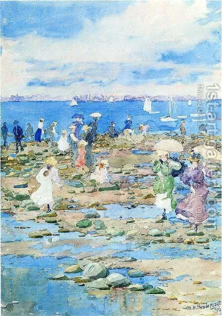 Summer Visitors by Maurice Brazil Prendergast - Reproduction Oil Painting