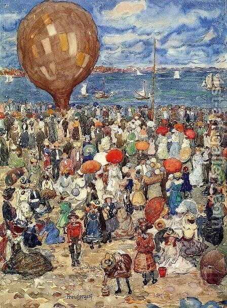 The Balloon by Maurice Brazil Prendergast - Reproduction Oil Painting